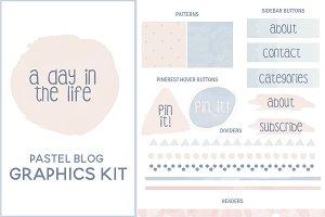 Pastel Blog Graphics Kit