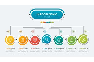 Presentation infographic template 7 options