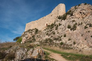 Medieval castle in Poza de la Sal