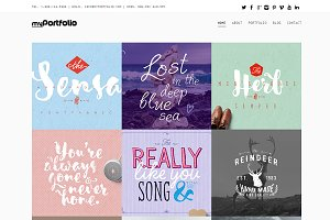 myPortfolio WordPress Theme