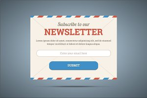 Newsletter subscribe form.