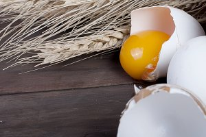 Baking background with eggs, ears,