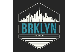 Brooklyn New York t-shirt design tee print