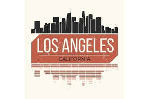 Los Angeles t-shirt design tee print.