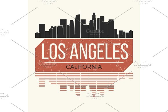 Los Angeles T-shirt Design Tee Print
