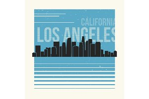 Los Angeles t-shirt design tee print