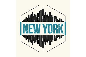 New York City t-shirt design tee print.