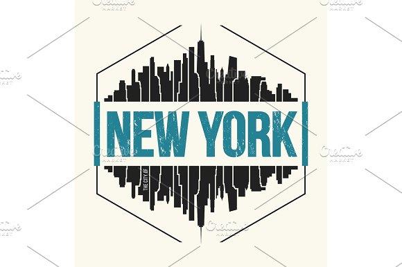 New York City T-shirt Design Tee Print
