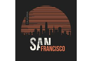 San Francisco t-shirt design tee print