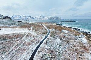 The road through the Lofoten islands
