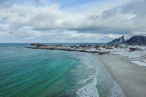 Rambergstranda beach in Lofoten islands