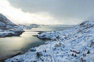Lofoten islands, aerial view