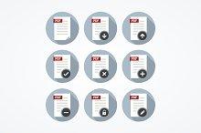Pdf documents icons