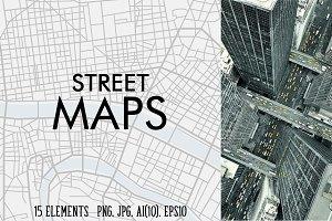 15 street maps textures