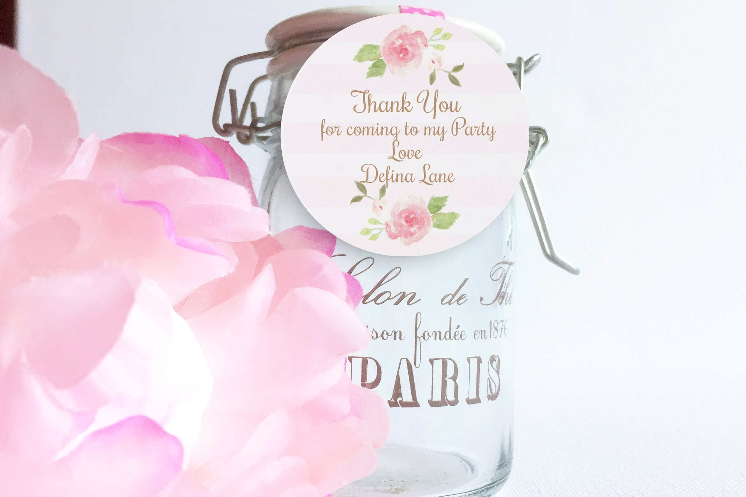 Watercolor Flowers thank you tag ~ Templates ~ Creative Market