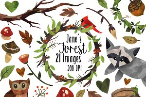 Woodland Forest Nature Clipart