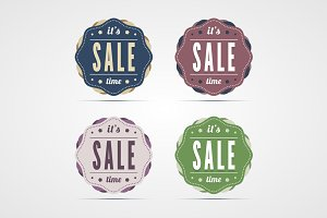 Vintage sale time badges.