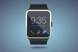 Smart watch - vector illustration.