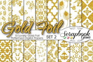 Gold Foil Pattern Digital Papers