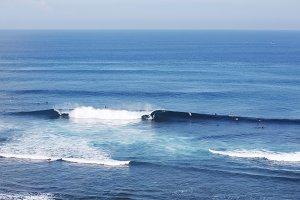 Surfing in Uluwatu, Bali