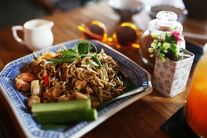 Pad Thai lunch in Bali