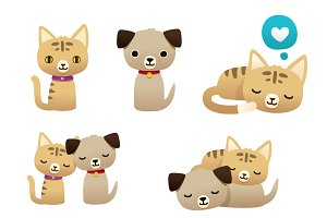 Cat and dog set