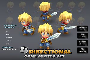 4-Directional Game Sprites Set