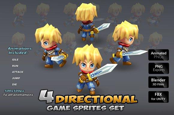 4-Directional Game Sprites Set