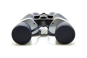 Gray with dark blue binocular