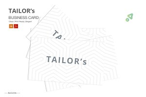 TAILOR's | Clean B Card Template