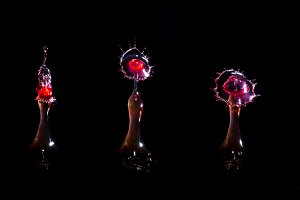 Images forming two drops of water
