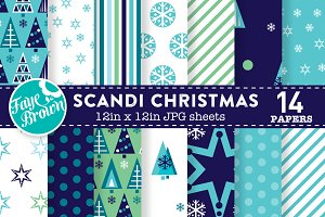 Scandi Christmas Digital Paper