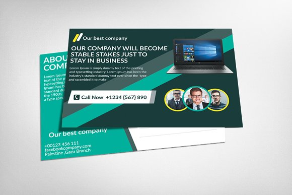 Employment Agency Postcard Template