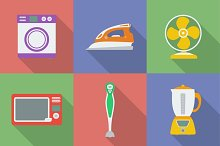 Icon set of 9 Household appliance