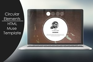 Circular Elements-HTML/Muse Template