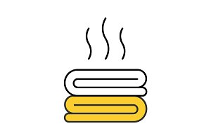 Hot towels color icon