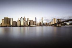 Sunrise over Manhattan Island, New Y