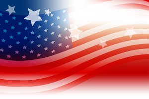 USA flag background design