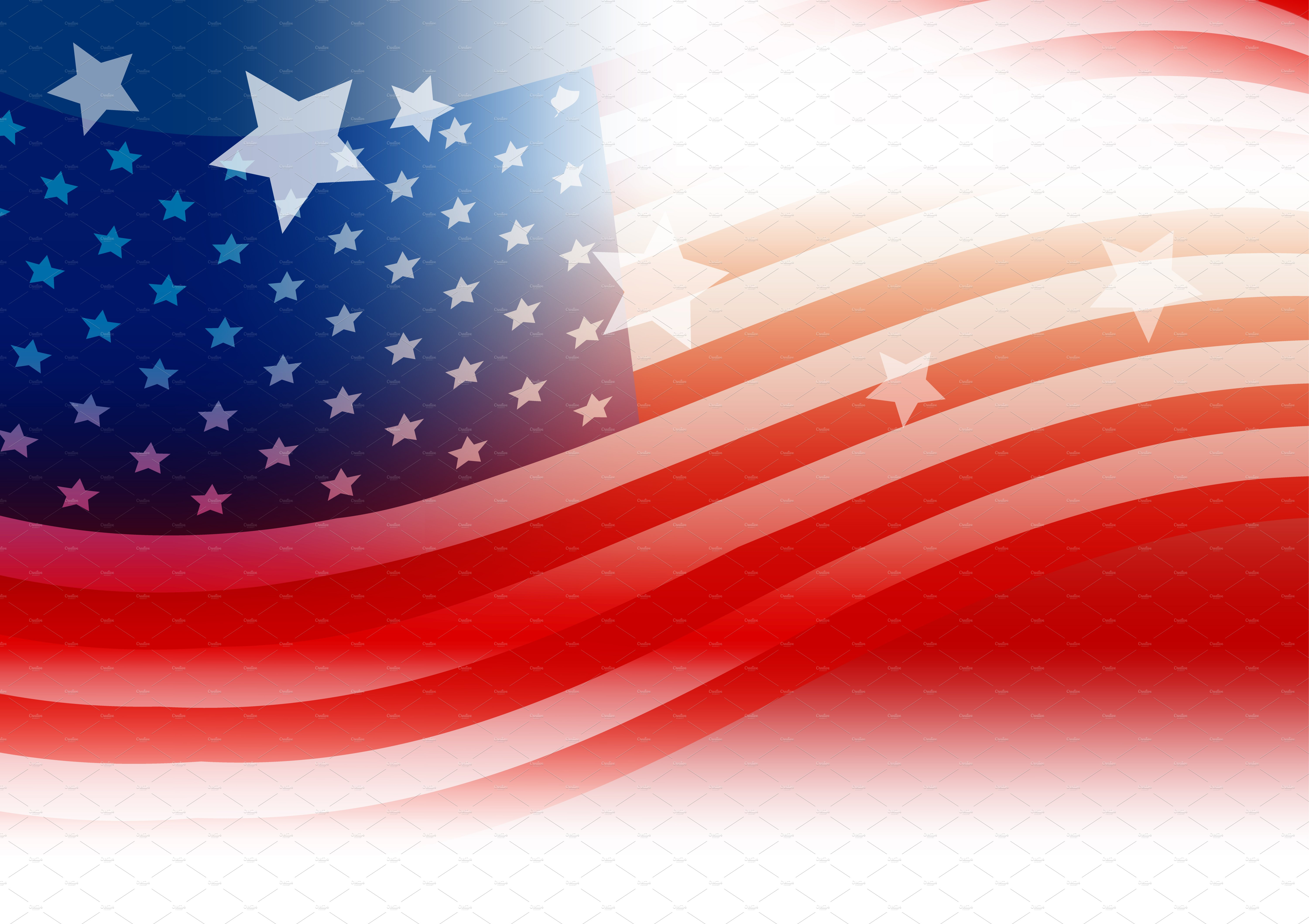 Usa Flag Background Design Illustrations Creative Market