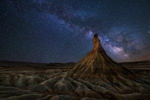 Bardenas desert Milky Way