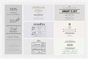 The MINIMALIST Social Media invites