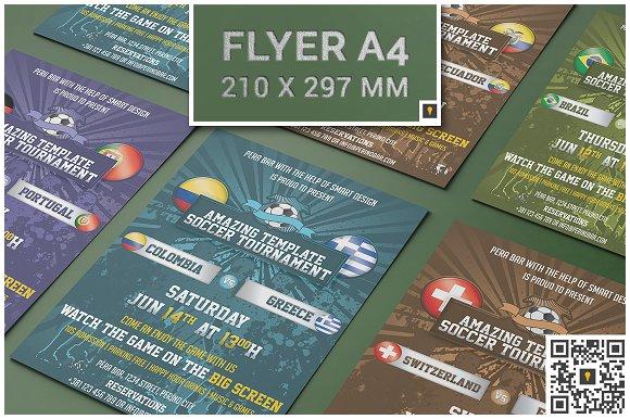 Soccer Tournament Flyer Flyer Templates Creative Market