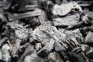 Black coal abstract background.