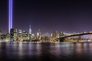 Pano of Manhattan in memorial day