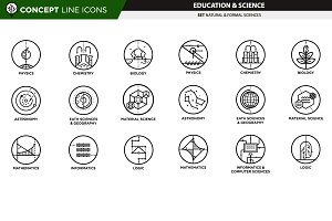 Concept line icons - sciences #1