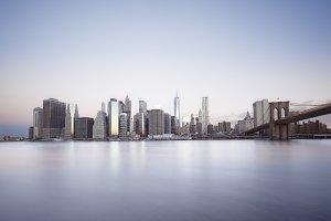 Sunrise over Manhattan island