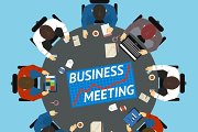 Business people at negotiating table