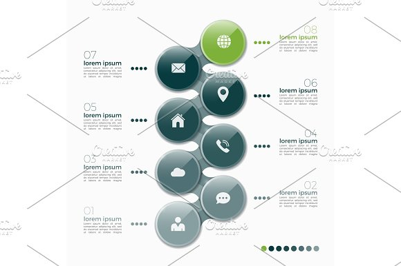 Vector 8 Option Infographic Design With Ellipses