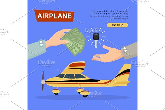 Buying Airplane Online Plane Sale Web Banner