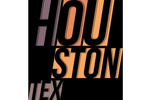 Houston t-shirt tee design typography print graphics.